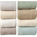 Hotel Luxury Super Soft Cotton Blanket with Bonus Cabinet Knobs
