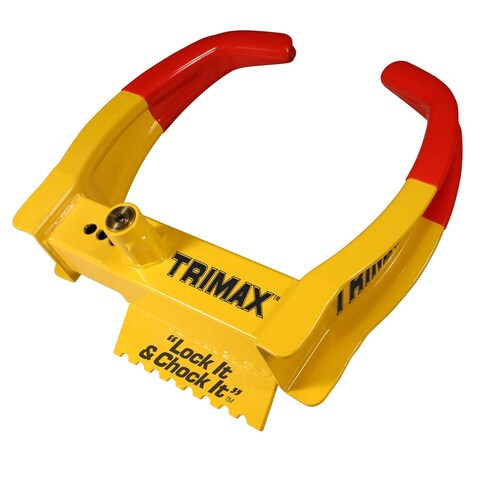 Trimax Deluxe Universal Wheel Chock Lock Yellow/Red