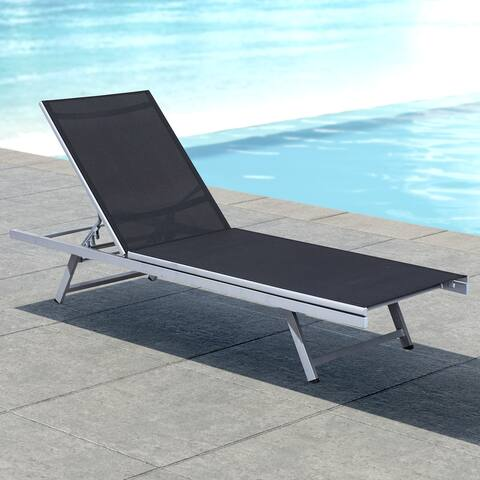 Newtok Mesh Reclining Patio Lounger by Havenside Home