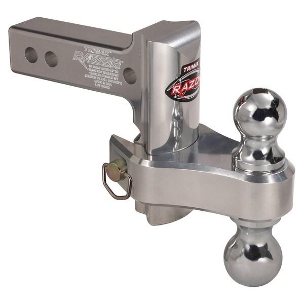 Trimax TRZ4AL-RP Razor 4in Aluminum Adjust Hitch Dual Ball