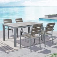 CorLiving Gallant Sun Bleached Grey 5-piece Outdoor Dining Set