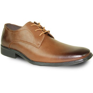 BRAVO Men Dress Shoe MILANO-4 Oxford Brown