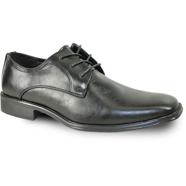 BRAVO Men Dress Shoe MILANO-4 Oxford Black