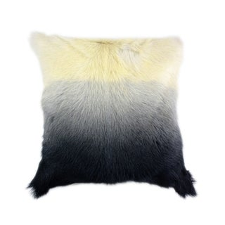 Aurelle Home Aurelle Home Goat Fur Pillow Light Grey