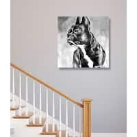 Hatcher and Ethan 'French Bulldog' Canvas Art