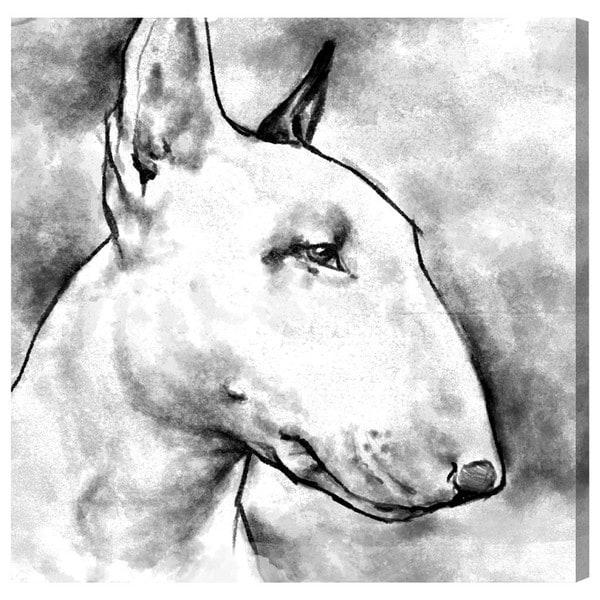 Hatcher and Ethan 'Bull Terrier' Canvas Art