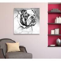 Hatcher and Ethan 'English Bulldog' Canvas Art