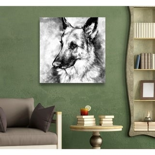 Hatcher and Ethan 'German Shepherd' Canvas Art - Black, White