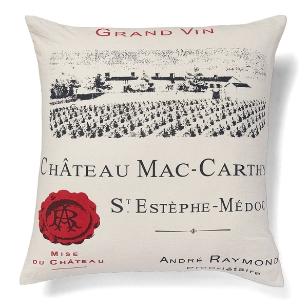 Cottage Home Chateau Mac-Carthy Cotton 20 Inch Throw Pillow