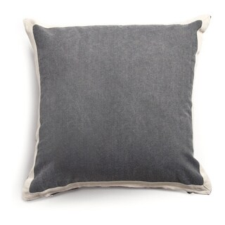Ampersand Charcoal 20-inch Throw Pillow