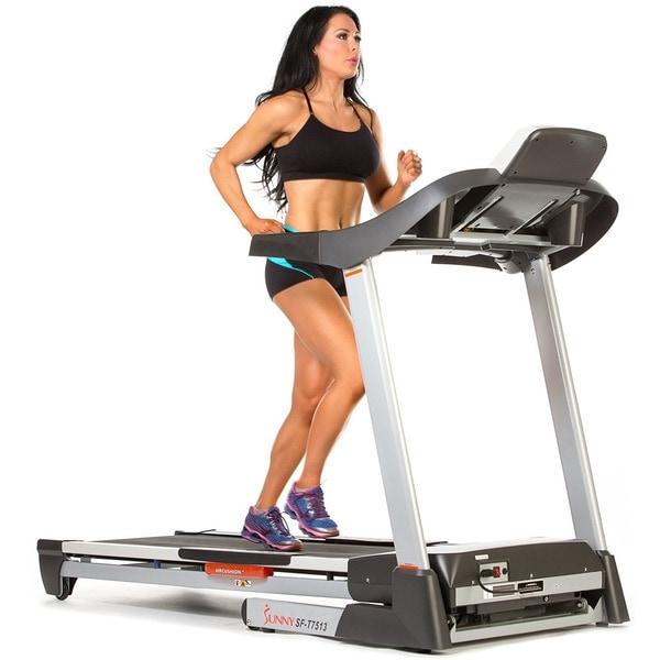 Sunny Health & Fitness SF-T7513 Treadmill - Silver