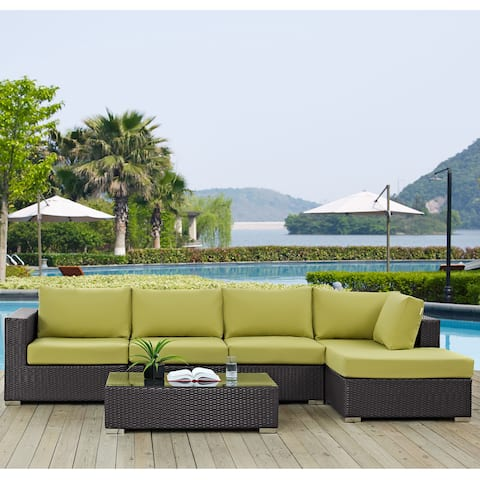 Havenside Home Bocabec 5-piece Outdoor Patio Sectional Set with Coffee Table