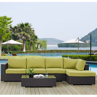 Clay Alder Home Stillwater 5-piece Outdoor Patio Sectional Set with Coffee Table