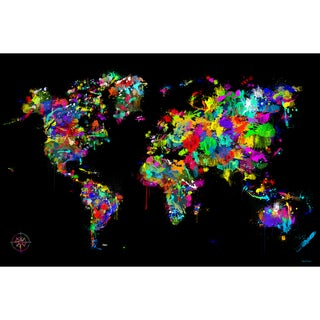 Maxwell Dickson 'World of Colors' Modern Canvas Wall Art
