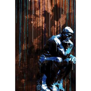 Maxwell Dickson 'The Thinker' Modern Canvas Wall Art