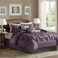 Madison Park Lafayette Plum 7 Piece Comforter Set