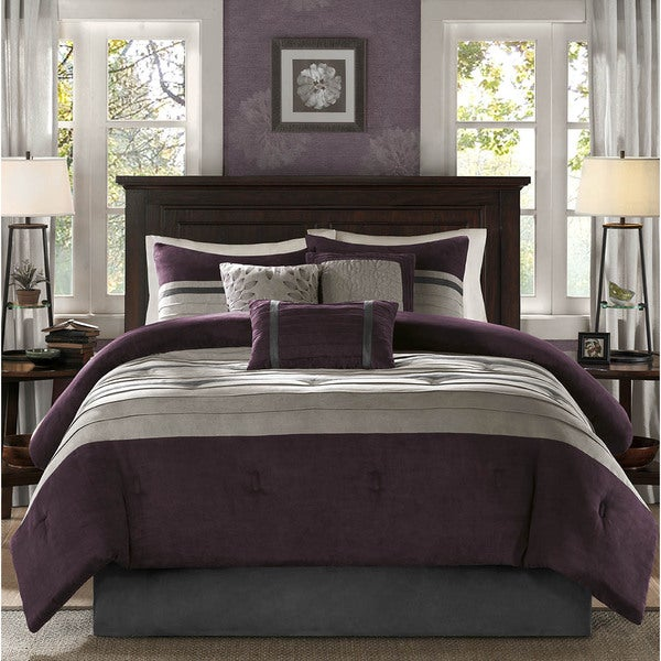 Madisaon Park Kennedy Purple Comforter Set