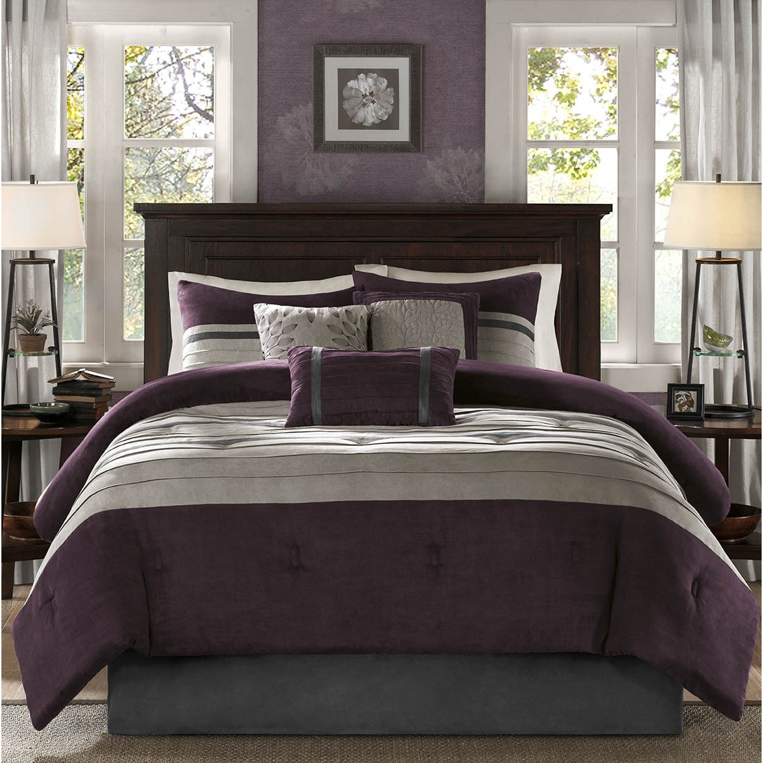 Madison Park Kennedy Plum Comforter Set - Free Shipping Today ...