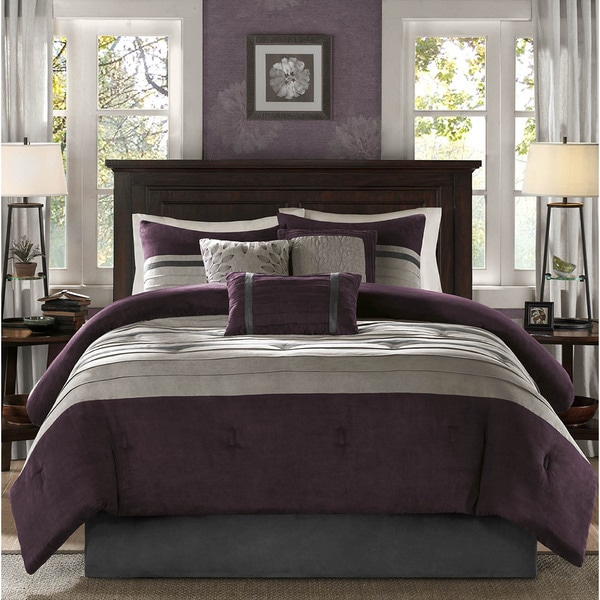 Madison Park Kennedy Plum Comforter Set