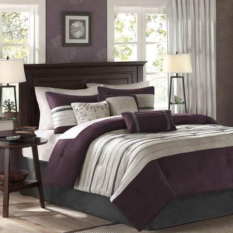 Madison Park Kennedy Purple Comforter Set