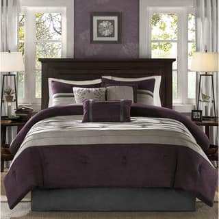purple bedroom sets. Madison Park Kennedy Plum Comforter Set Purple Sets For Less  Overstock com