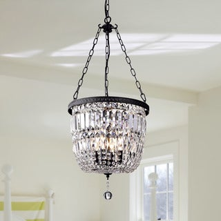 Shakira Antique Black Bowl-Shaped Crystal Chandelier