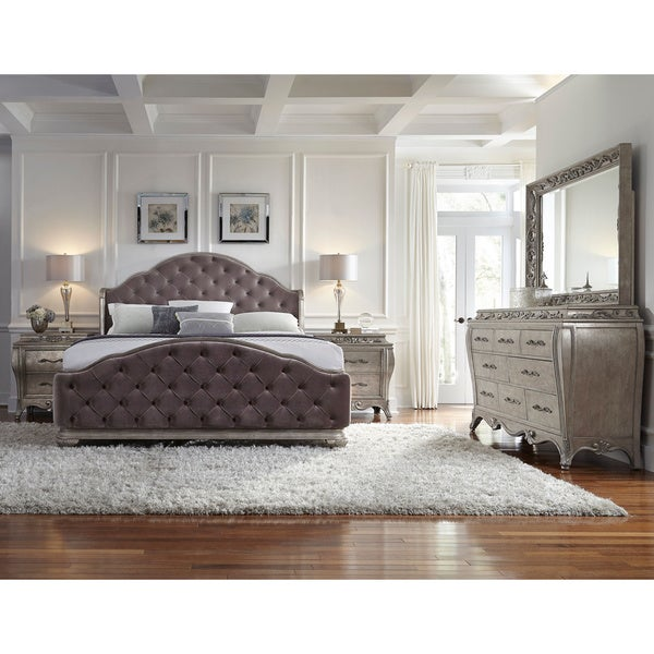 Anastasia 5 piece king size bedroom set free shipping for Bedroom furniture 50 off