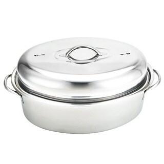 Stainless Steel Oval-shaped 16-inch Turkey Roaster