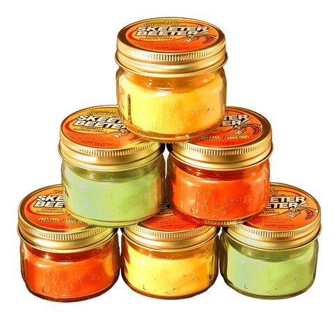Bright Colored Citronella Scented 3-ounce Mason Jar Bug Repellent Candles (Set of 6)