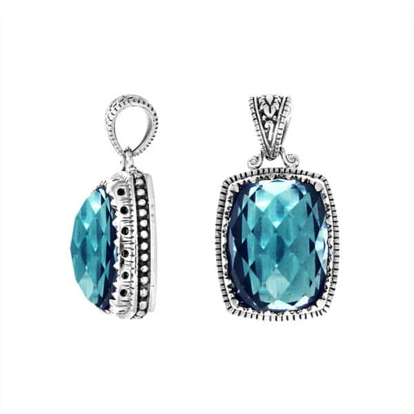 13229f743 Shop Handmade .925 Sterling Silver Faceted Blue Topaz Pendant (Indonesia) -  On Sale - Free Shipping Today - Overstock - 11458348