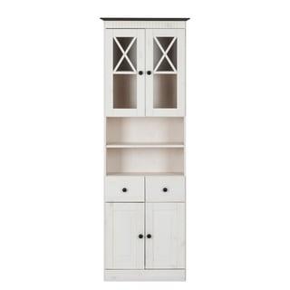 Cornelia Solid Pine Bath 2-door High Cabinet