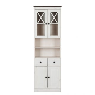 Cornelia Solid Pine Bath 2-door High Cabinet