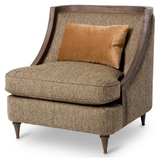 Dallas Wood Trim Chair by Michael Amini