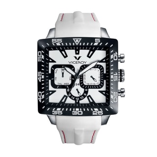 Viceroy Mens 432101-05 White Rubber Watch
