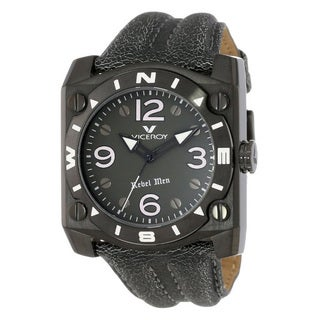 Viceroy Mens 432119-55 Grey Leather Calfskin Watch