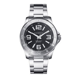 Viceroy Mens 432203-55 Silver Stainless Steel Watch