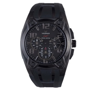 Viceroy Mens 47617-55 Black Rubber Watch