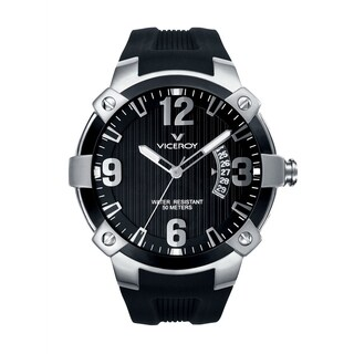 Viceroy Mens 47635-55 Black Rubber Watch