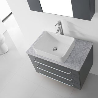Virtu USA Ivy 32-inch Grey Single Bathroom Vanity Cabinet Set