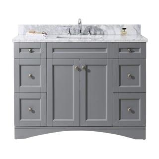 Virtu USA Elise 48-inch Grey Single Bathroom Vanity Cabinet Set