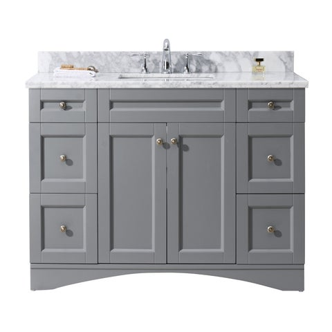 Elise 48-in Grey Single Bathroom Vanity Cabinet Set