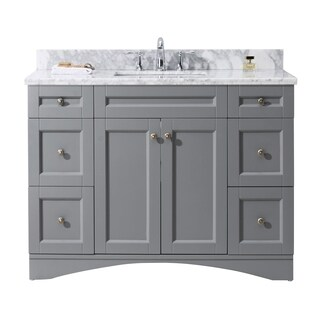 Superior Virtu USA Elise 48 Inch Grey Single Bathroom Vanity Cabinet Set