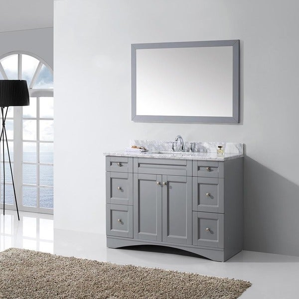 overstock bathroom vanities cabinets shop virtu usa elise 48 inch grey single bathroom vanity 19838