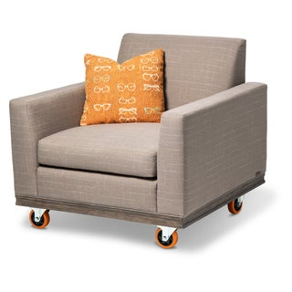Detroit Chair with Tangerine Wheels by Michael Amini