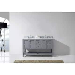 Bathroom Vanities For Less. Virtu Usa Winterfell 60 Inch White Marble Double Bathroom Vanity Set With No Mirror