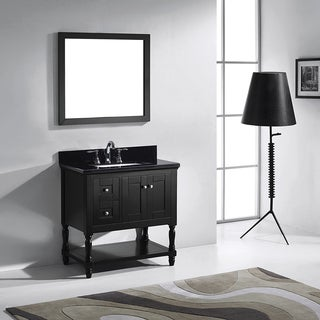 Virtu USA Julianna  36-inch Espresso Single Bathroom Vanity Cabinet Set