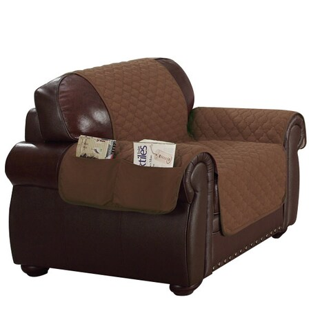 Quick Fit Liza Collection Reversible Waterproof Loveseat Cover With Pockets