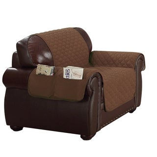 Quick Fit Reversible Waterproof Loveseat Cover With Pockets