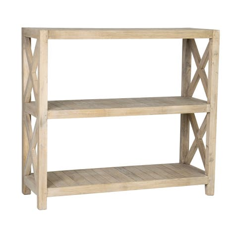 East At Main's Oakley Rubber Wood Open Horizontal Bookcase