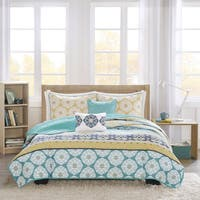 Intelligent Design Celeste Yellow/ Teal 5-piece Coverlet Set